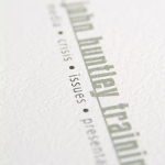 close up of lettering printing on the card