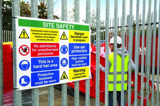 construction site signs in suffolk