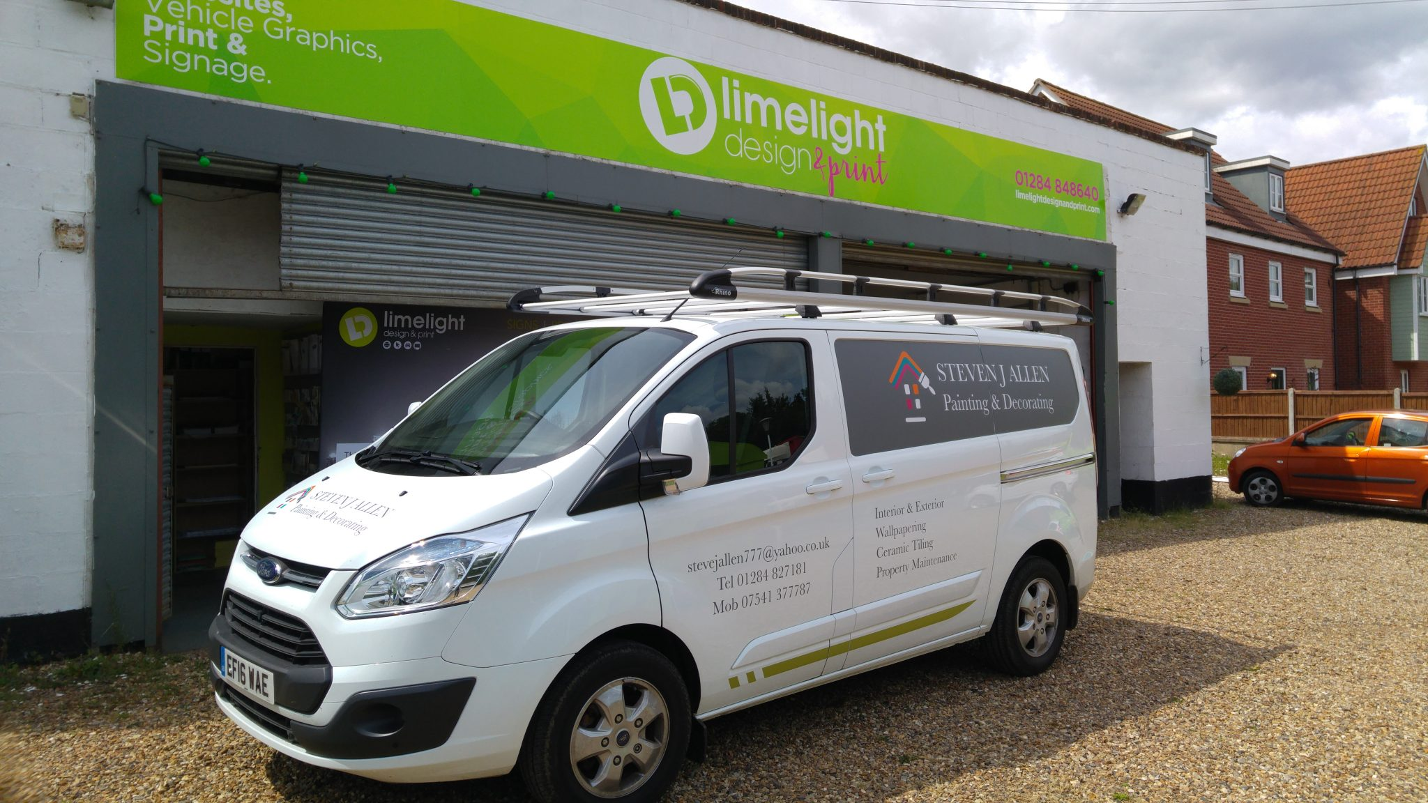 Vehicle Graphics designed, printed & fitted by Limelight Design & Print
