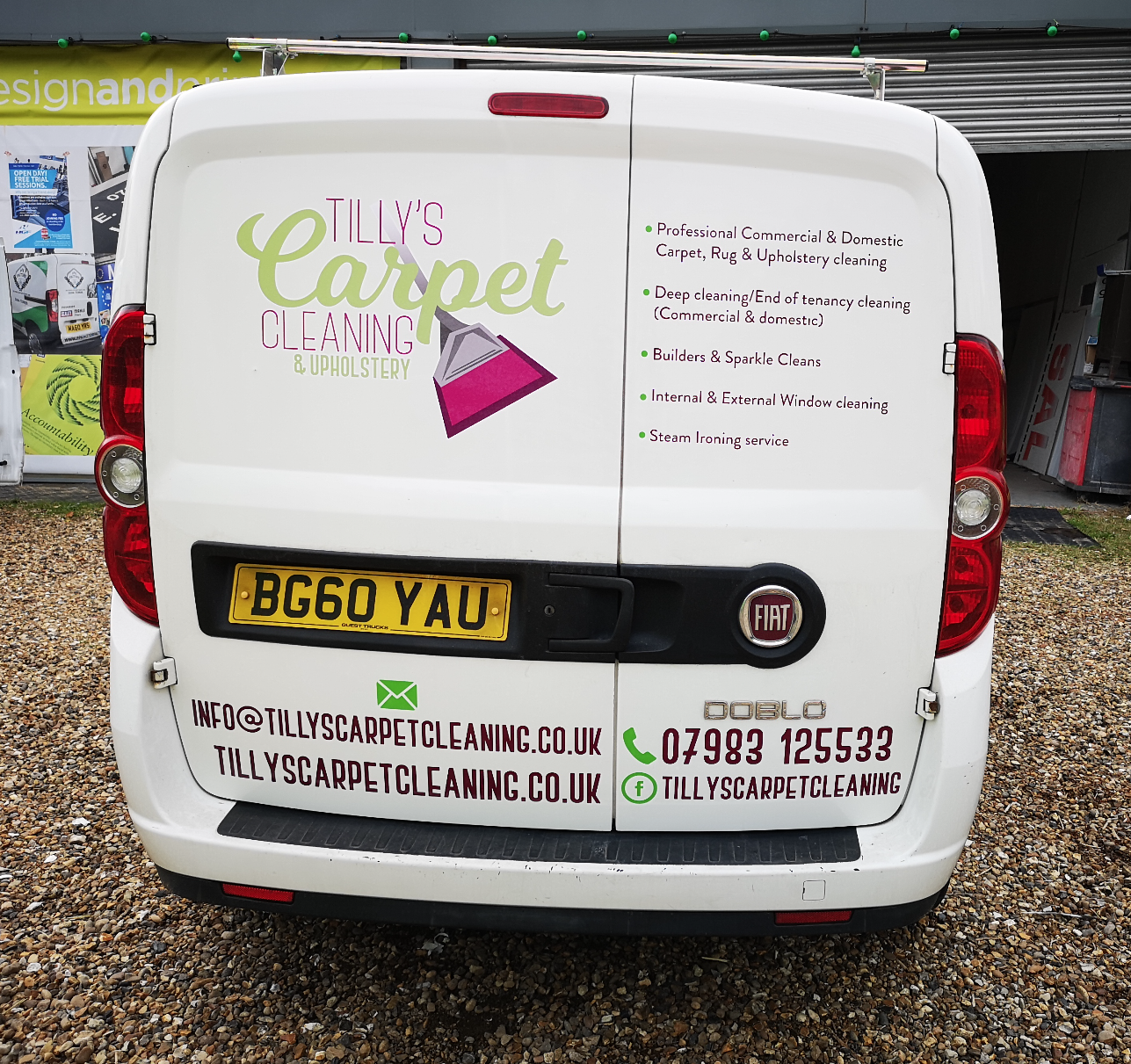 Carpet cleaning vehicle signage in Suffolk