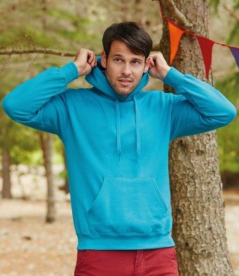 bright blue hooded pullover man photo bury st edmunds