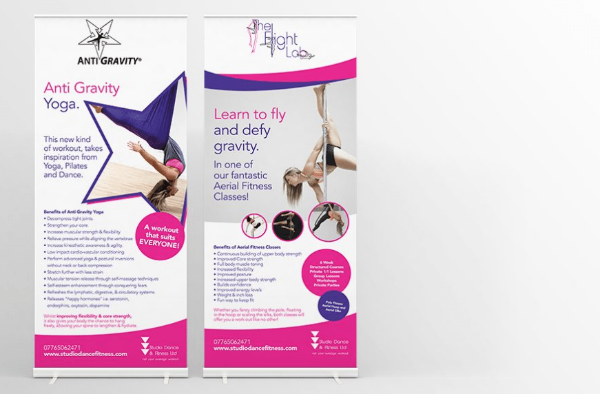 Studio Dance and Fitness Pull Up Banners