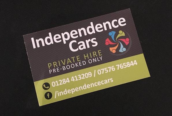 Taxi Business Cards for Independence Cars