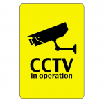 cctv in operation sign post in bury st edmunds
